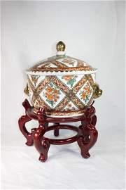 Oriental Accent - Made in China Large Covered Bowl