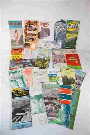 21 Vintage Florida Souvenir Brochures - EARLY