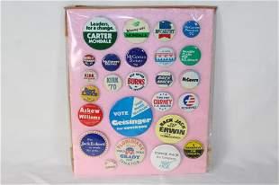Authentic Lot of 25 Political Buttons Nat'l & Fl.