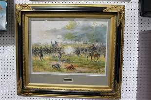 Rare 1887 - Antietam Civil War Lithograph