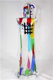 Unsigned Large Abstract Art Glass Sculpture