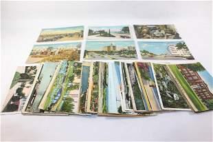 LOT OF EPHEMERA - Linen Postcards
