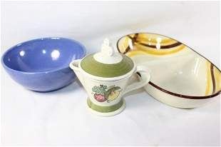 MISC. LOT OF POTTERY/KITCHENWARE.VERNONWARE