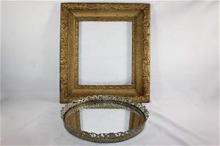 MISC, MIRRORED VANITY TRAY, GOLD PICTURE FRAME