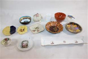MISC. LOT OF 13 TRINKET DISHES & TRINKETS
