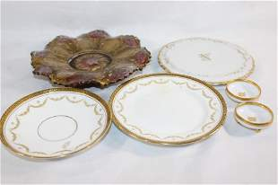 MISC. GOLD AND WHITE CHINA