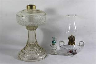 3 MISC. OIL LAMPS