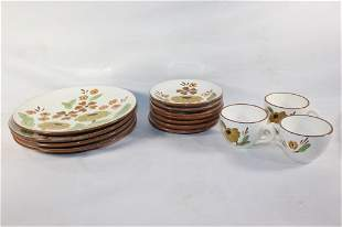 14 PC STANGL FIRST LOVE PLATES/CUPS/SAUCERS