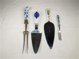Flow Blue Utensils - Ceramic Handle Utensils
