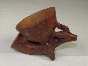 Vintage Animal Clay Pipe Bowl
