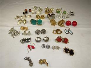 Large Lot of Vintage Costume Jewelry Earrings
