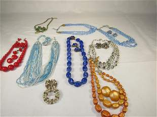 Lot of Vintage Costume Jewelry Sets