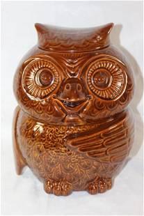 VINTAGE MCCOY USA OWL COOKIE JAR BROWN #204