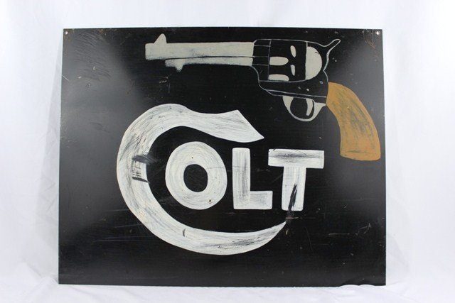 Handmade Double Sided Colt Metal Sign