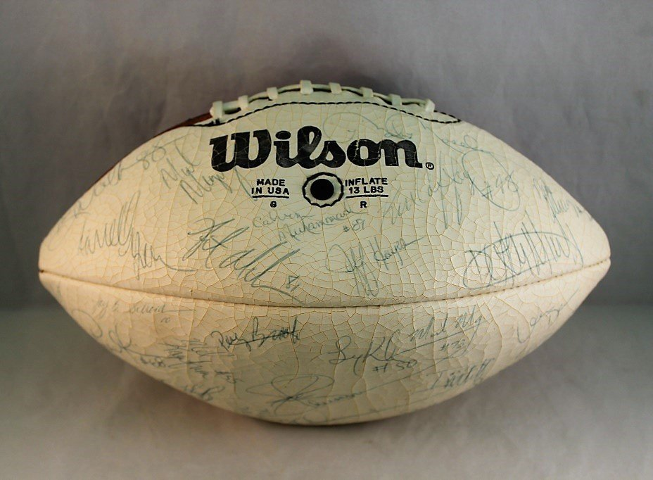 1984 Football Signed by the Washington Redskins