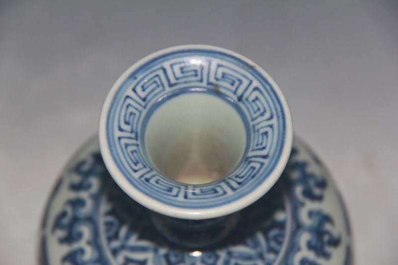 XUANDE MARK, A BLUE AND WHITE BOWL - 6