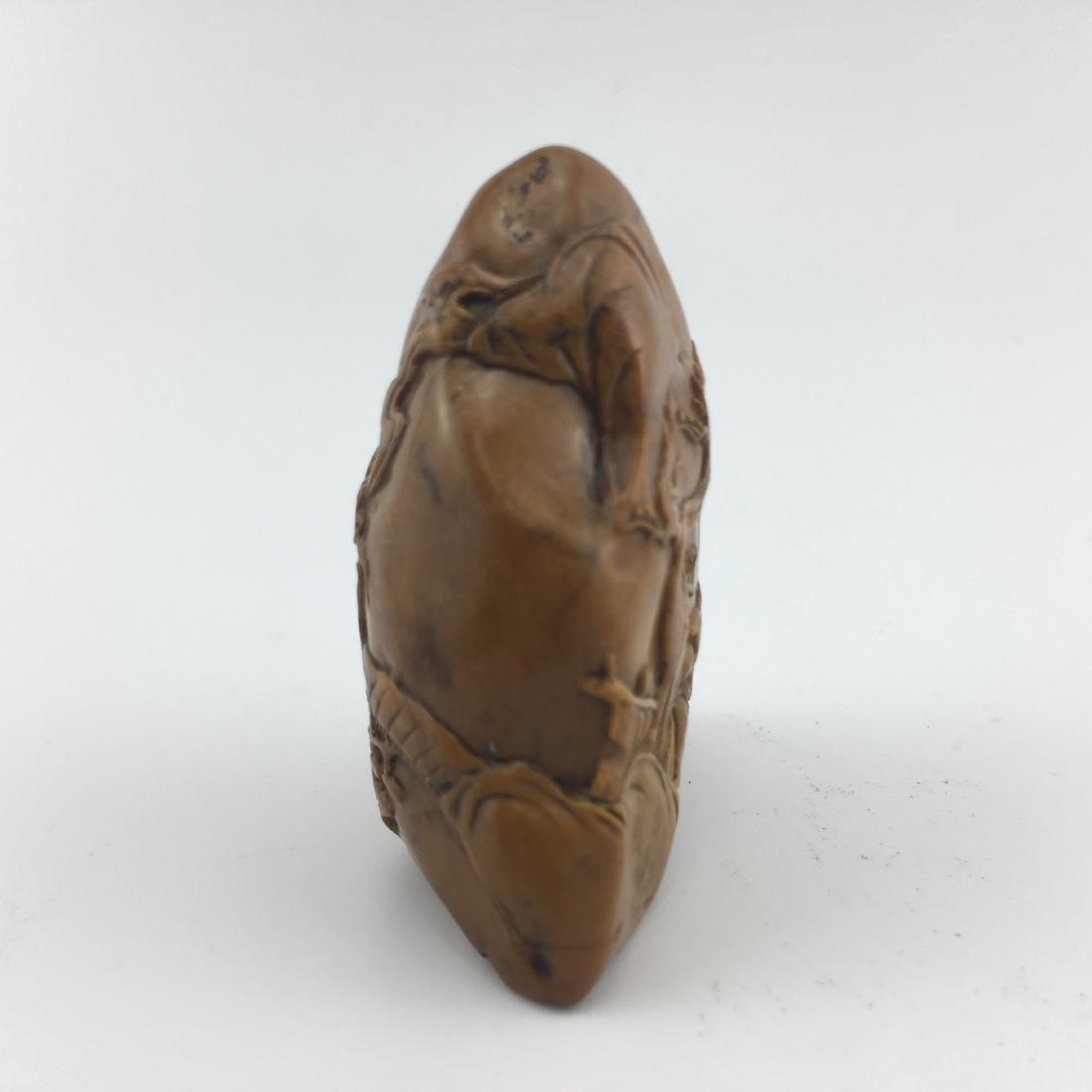Antique Chinese SHOU SHAN HUANG Stone Seal - 2