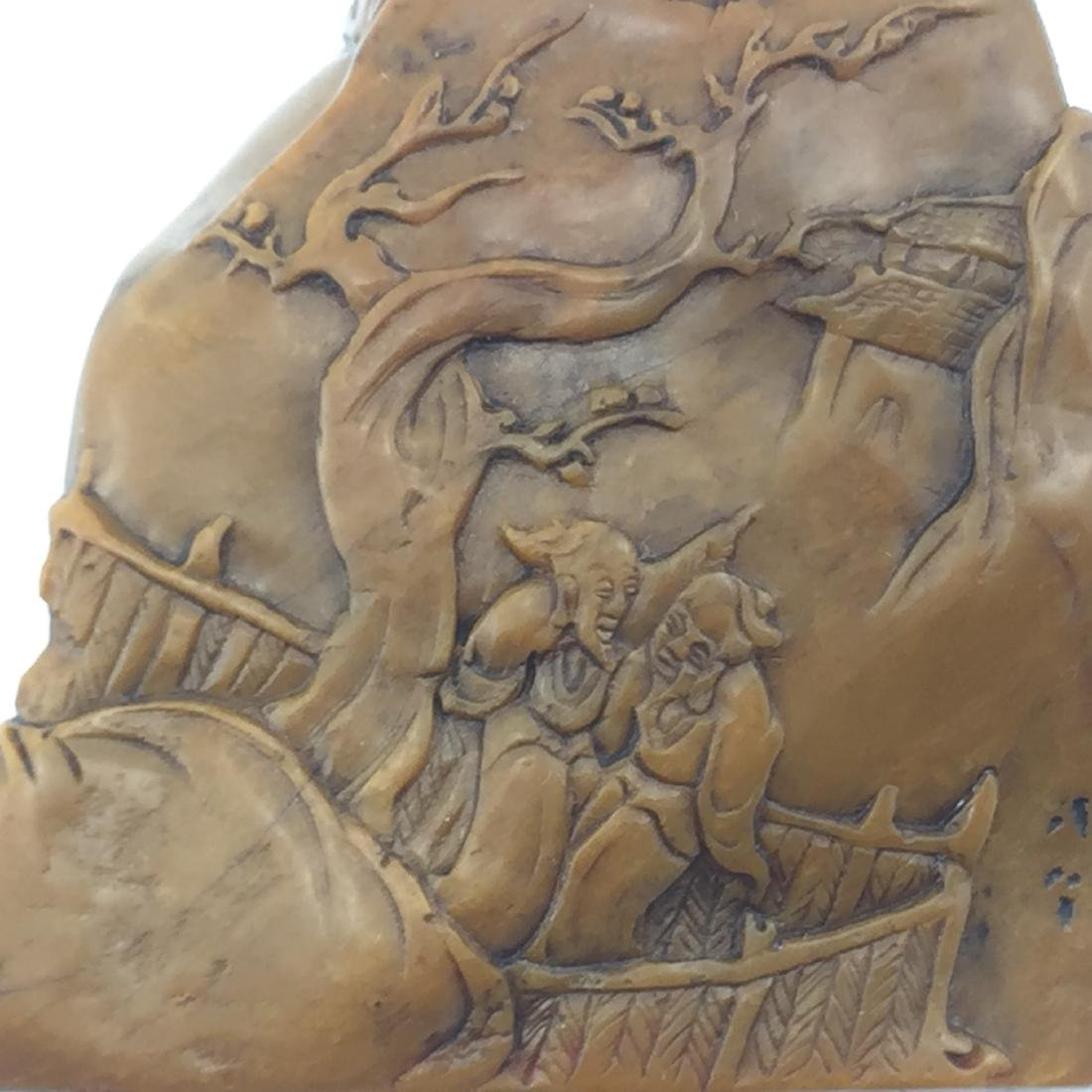 Antique Chinese SHOU SHAN HUANG Stone Seal - 6