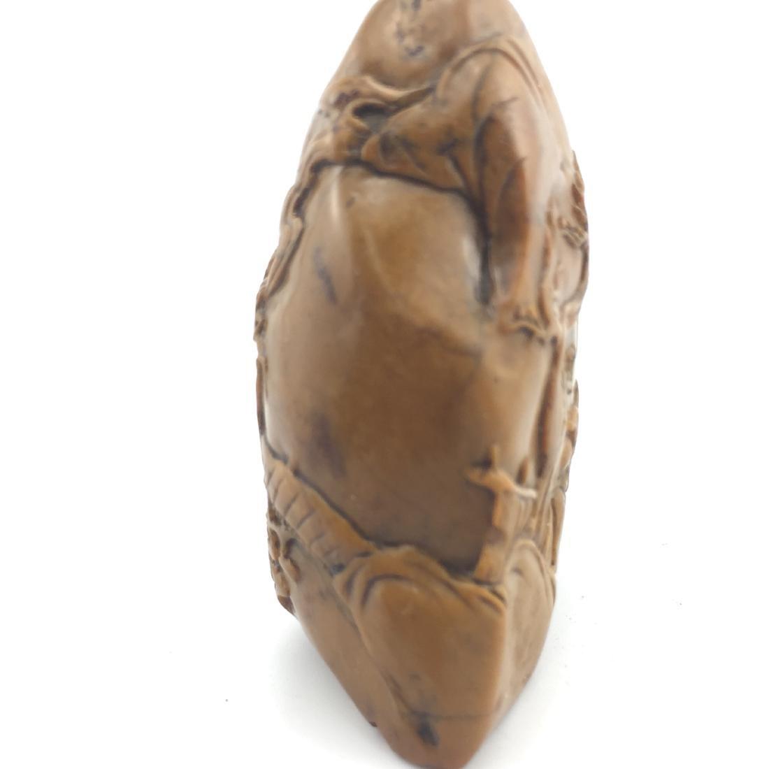 Antique Chinese SHOU SHAN HUANG Stone Seal - 9