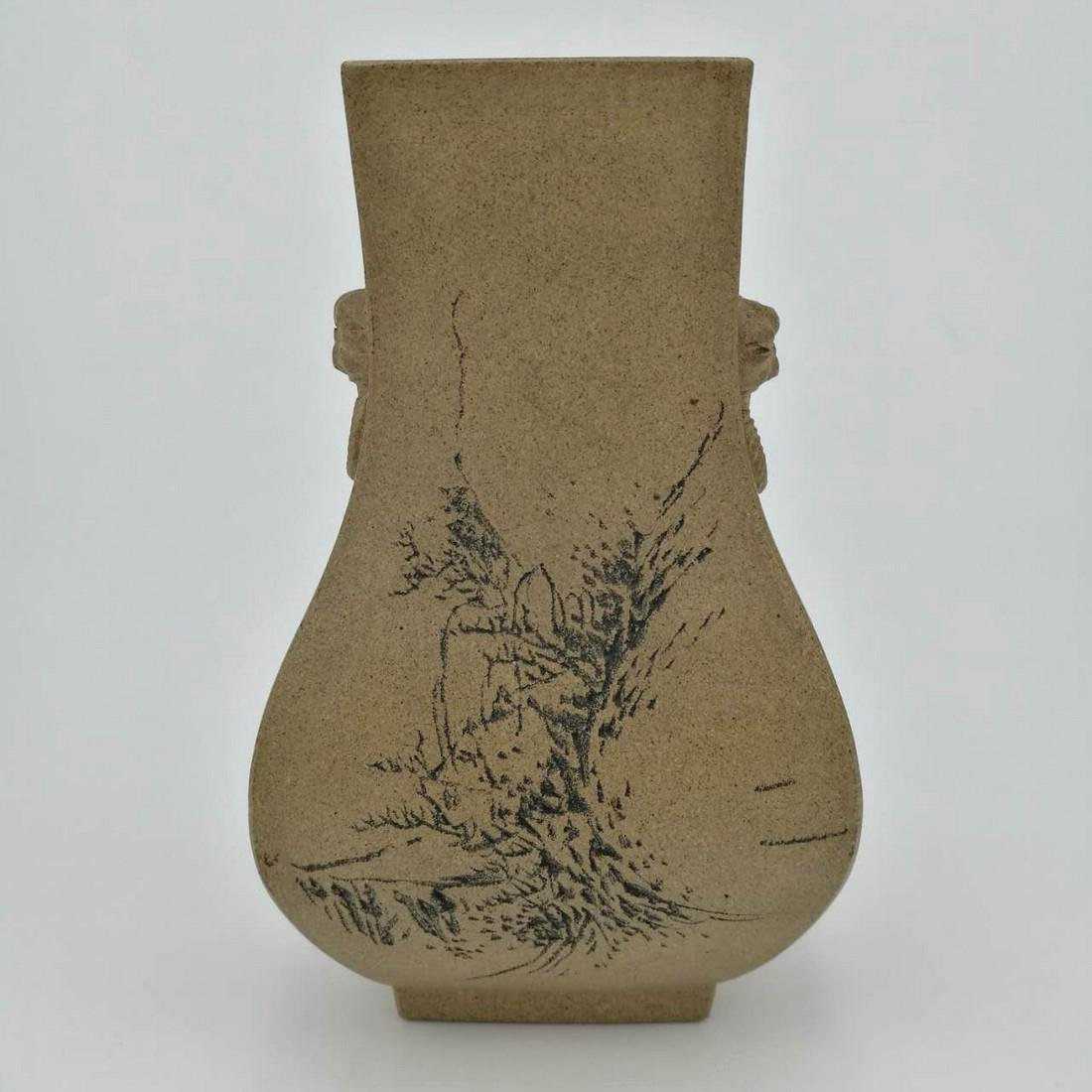 19th Century Chinese ZI-SHA Vase