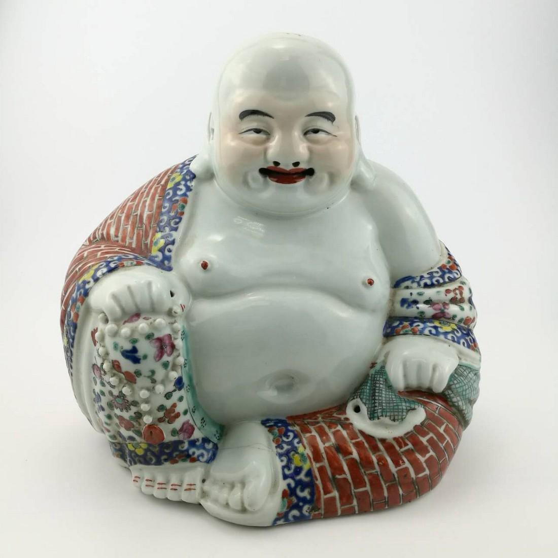 19th Century Chinese Porcelain BUDAI Buddha Sculpture