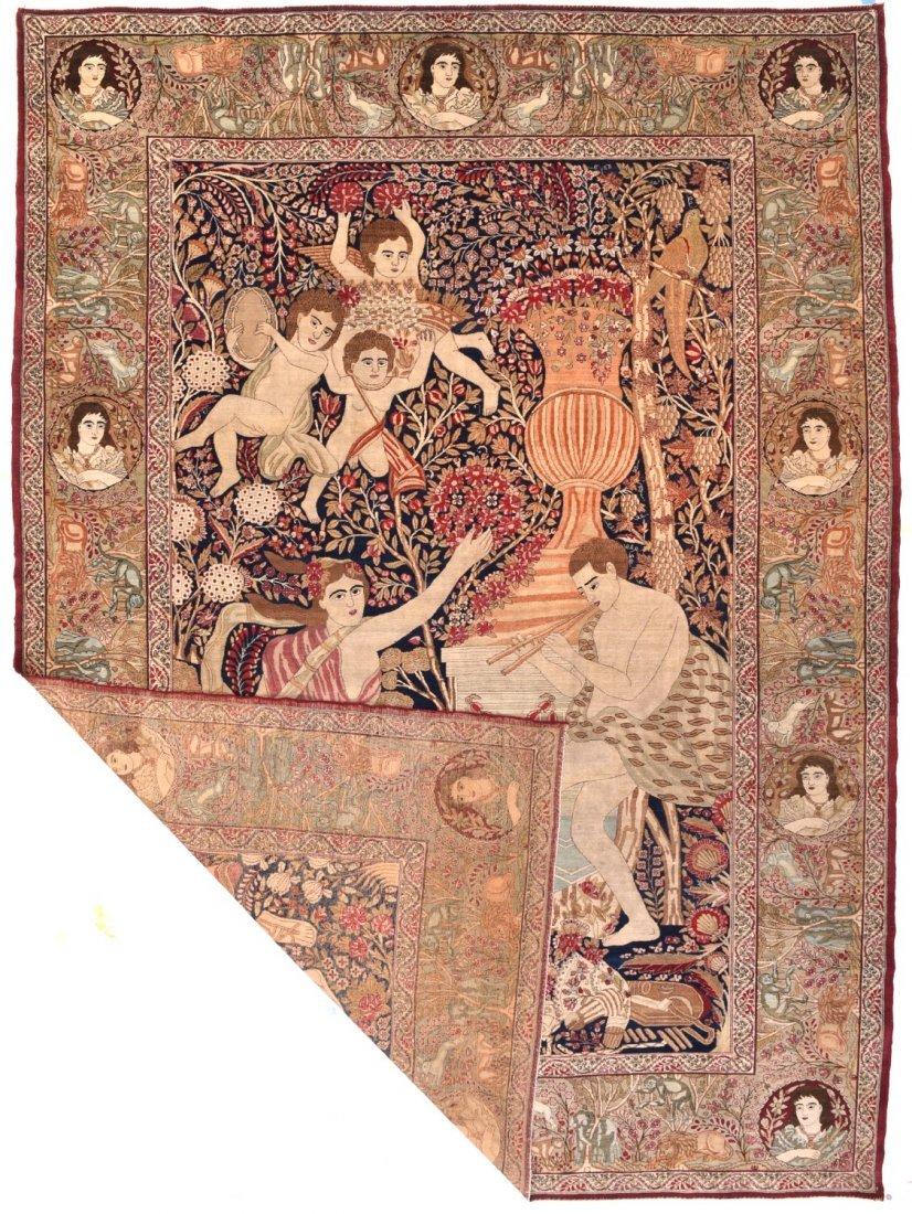 Extremely Fine Antique Persian Lavar Kerman Rug - 3