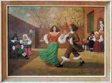 Dancing painting by Joseph Anthony 1949