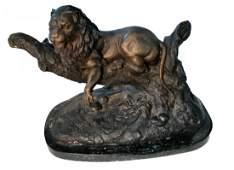 Lion cast metal