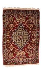 "Antique Fine Persian Kashan Rug,Size2 x 3'1"""