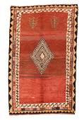 "Fine Tribal Persian Gabbeh, Size: 3'4""x6"""