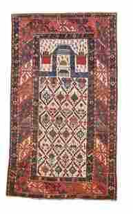 Antique Ganja Ganje Russian Prayer Area Rug