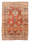 Antique Silk Heriz Persian Area Rug