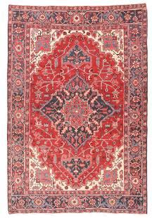 Hand Knotted Persian Heriz Serapi Wool