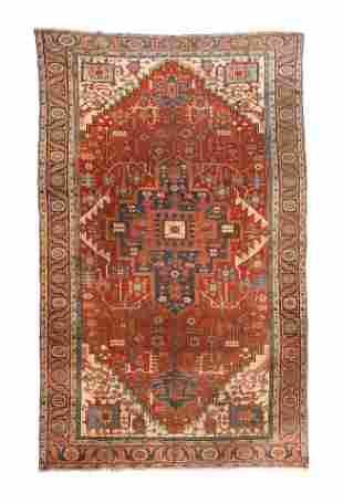 Antique Heriz Serapi Persian Area Rug