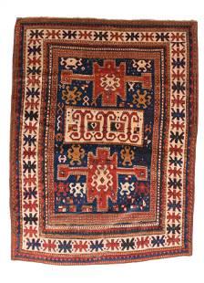 Antique kazak Borcholo Russian Area Rug
