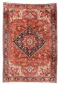 Fine Semi Antique Persian Heriz Rug  90 X 130