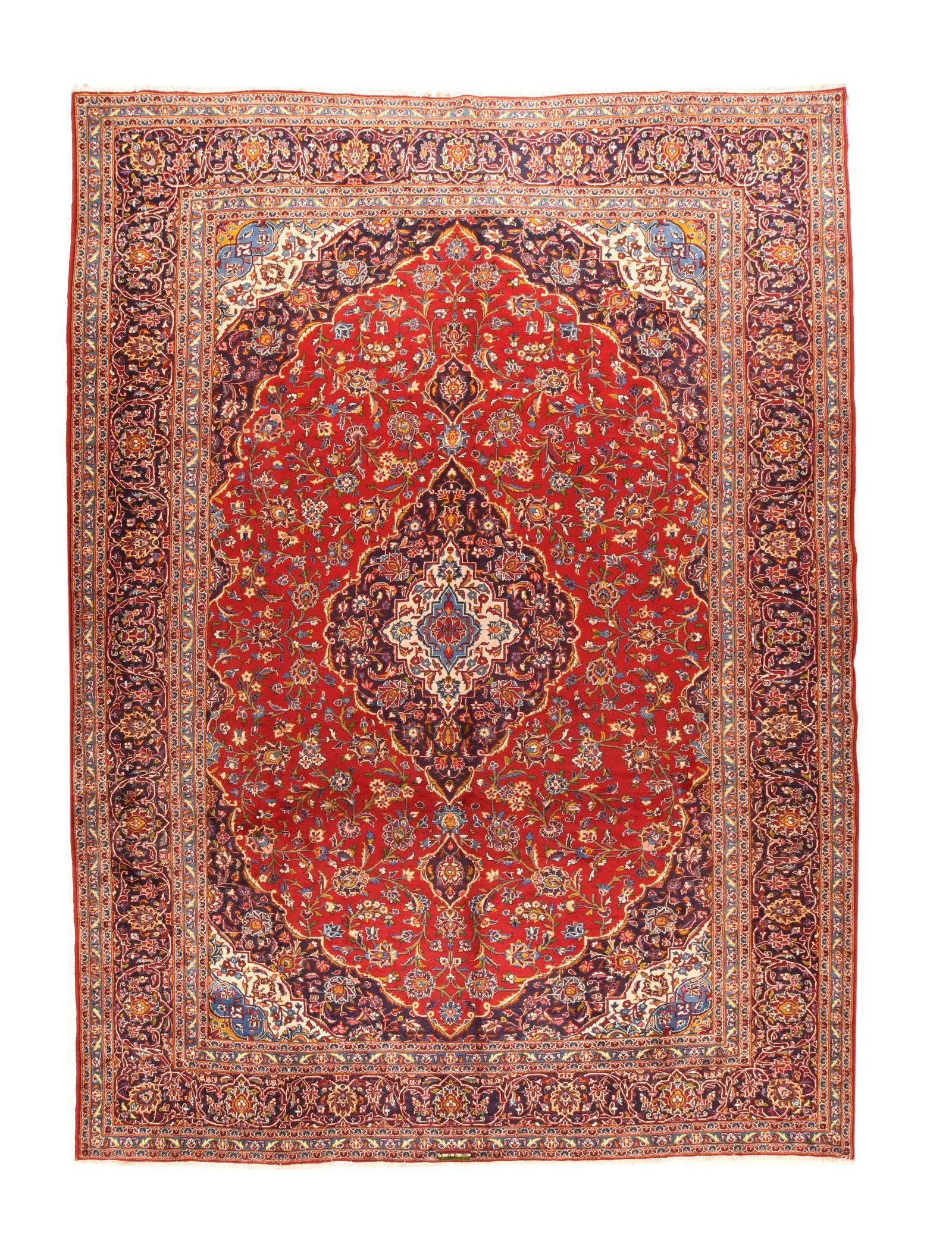 Semi Antique Kashan, 9'11'' X 14'3''