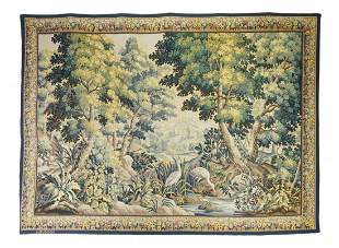 """French Aubusson Tapestry, 6'8"""" x 9'5"""""""