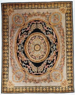 "Savonery French Design Rug, 7'8"" x 9'8"""