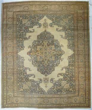 """Antique Persian Hajijalili Tabriz Rug, 10'1"""" x 12'3"""""""