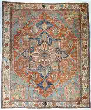 """Antique Persian Serapi, 10'6"""" x 12'6"""""""