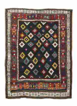 """Antique Turkish Wool Rug, 4'6"""" x 6'2"""""""