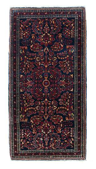 Antique Persian Sarouk, 2' x 4'