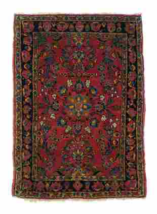 "Antique Persian Sarouk, 2'3"" x 3'3"""
