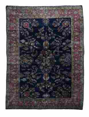 Antique Persian Sarouk Mohajeran Area Rug, 8'9'' x