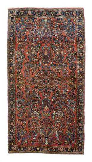 "Antique Persian Sarouk, 2'6"" x 4'10"""