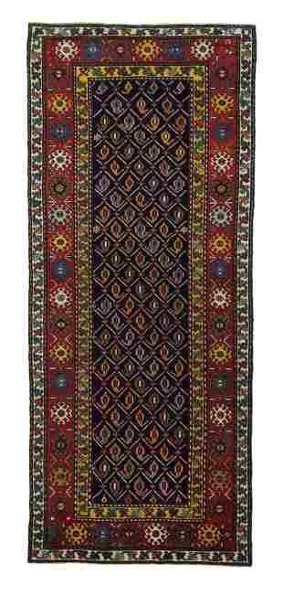 Antique Caucasian Shirvan Long Rug, 3'5'' x 8'9''