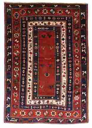 Antique Caucasian Kazak, 4'11'' x 7'0''