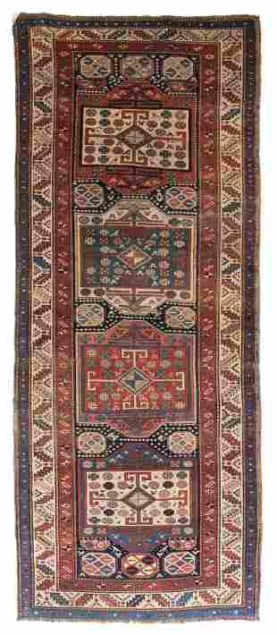 Antique East Caucasian Long Rug, 3'7'' x 9'3''