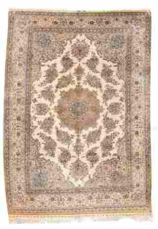 Vintage Turkish Silk Hereke, 6'6'' x 9'6''